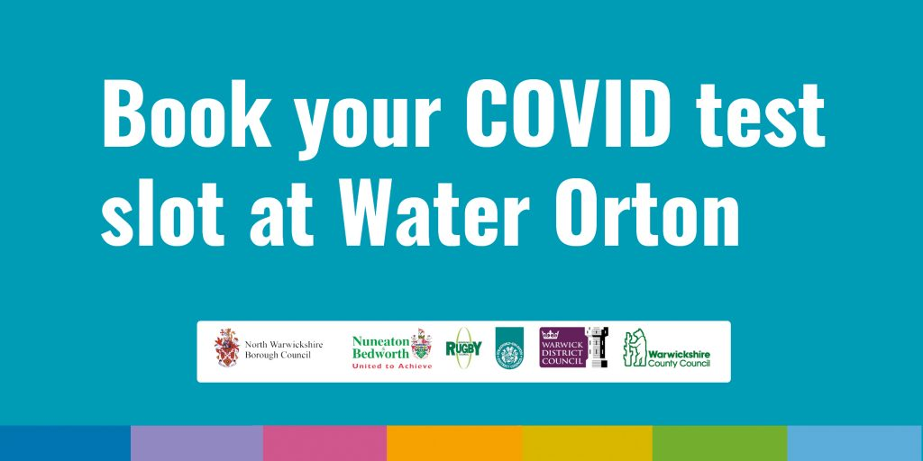 Book your COVID test slot at Water Orton